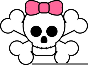 Free Skull With Bow Clipart.