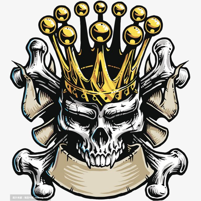 Crown Skull, Skull Clipart, , Crown PNG Transparent Clipart.