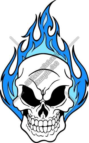 Skull with flames clipart 3 » Clipart Station.