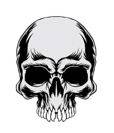 Skull clipart black and white 3 » Clipart Station.