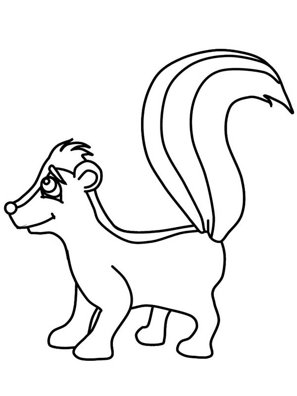 Free Skunk Clipart Black And White, Download Free Clip Art.