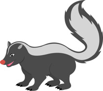 Free Skunk Clipart.