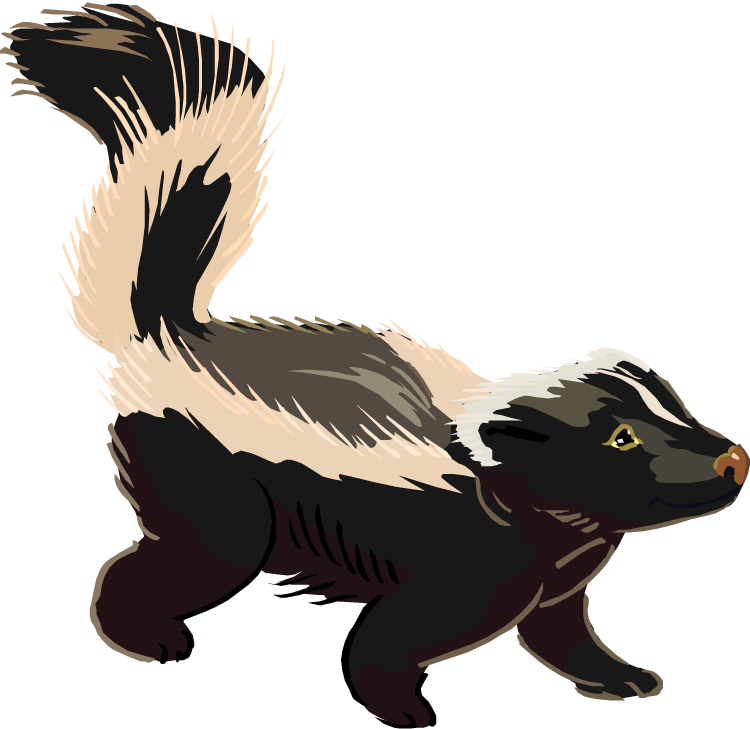 Skunk Clipart Free.