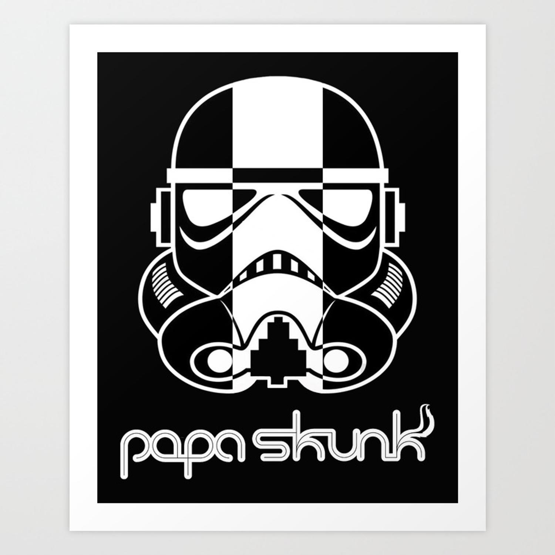Skunk Trooper w/ Papa Skunk Logo Art Print.