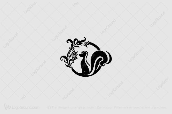 Exclusive Logo 188233, Skunk Logo Floral.