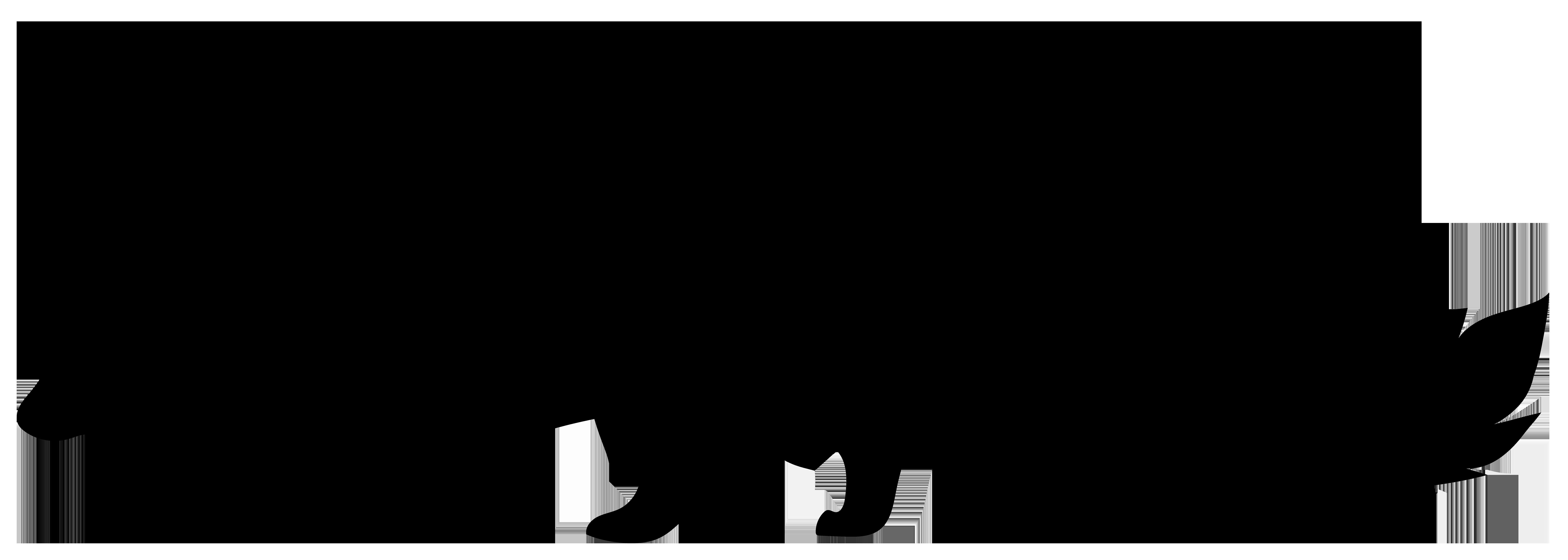 Skunk Silhouette PNG Transparent Clip Art Image.