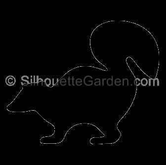 Skunk Silhouette.