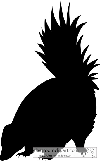 Skunk clipart skunk silhouette clipart classroom clipart.