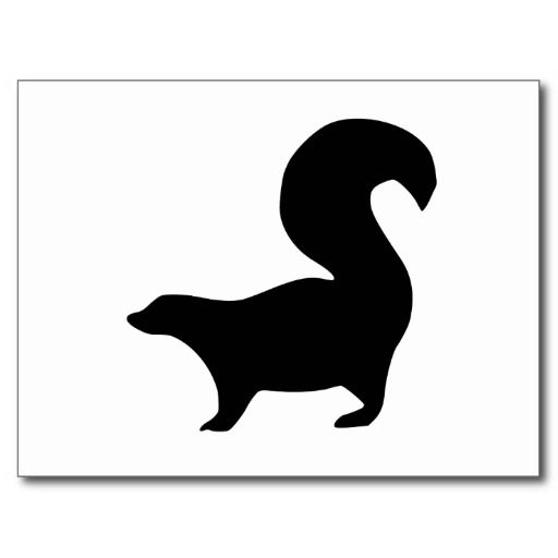 images silhouette skunk.