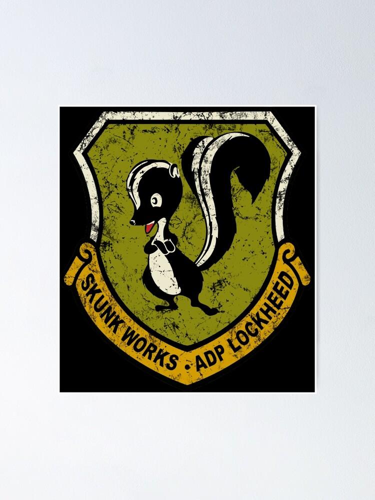 Lockheed Martin Skunk Works vintage logo.
