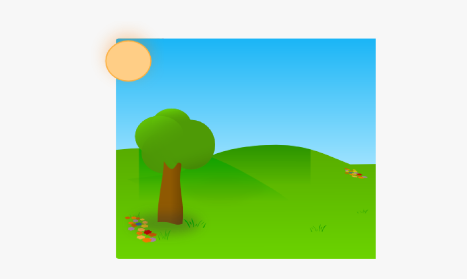 Grass Clipart Blue Background.