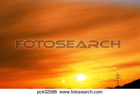 Stock Images of red sky, sunrise, sunset, cloud, sky, sunset.