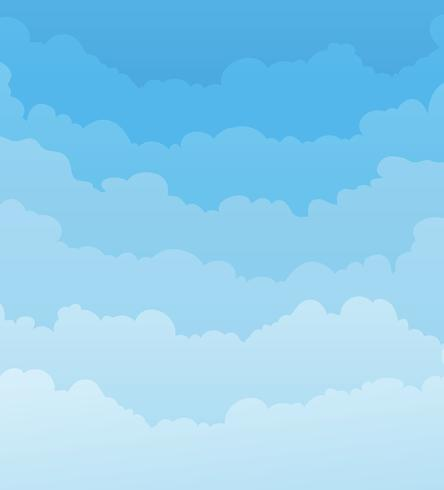 Sky Background With Clouds Layers.