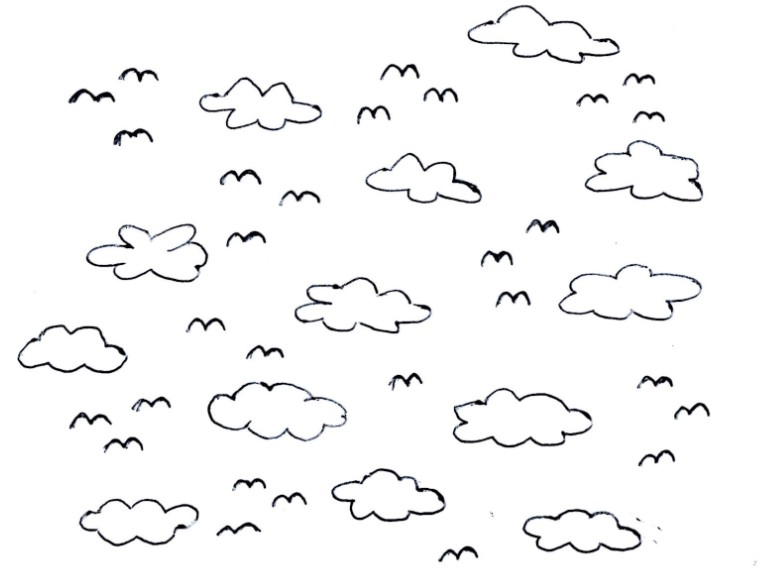 Clipart black and white sky 2 » Clipart Portal.
