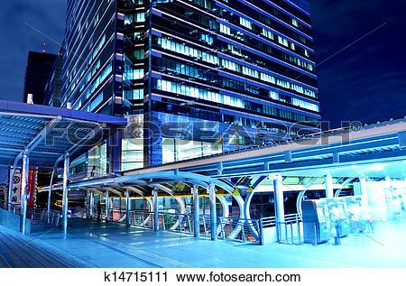 Stock Photography of Sky bridge connection to Bangkok Rapid.