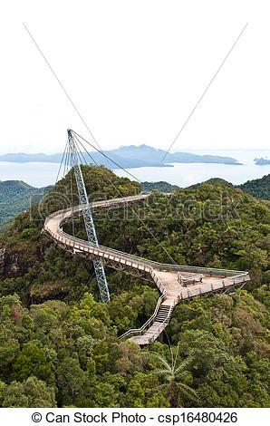 Stock Photo of The Langkawi Sky Bridge in Langkawi Island.
