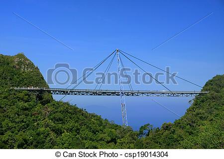Stock Photography of Langkawi Sky Bridge, Langkawi island.