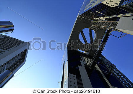 Stock Photography of Umeda Sky Building in Japan csp26191610.