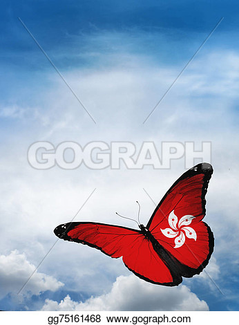 Butterfly Flying To Sky Clipart.