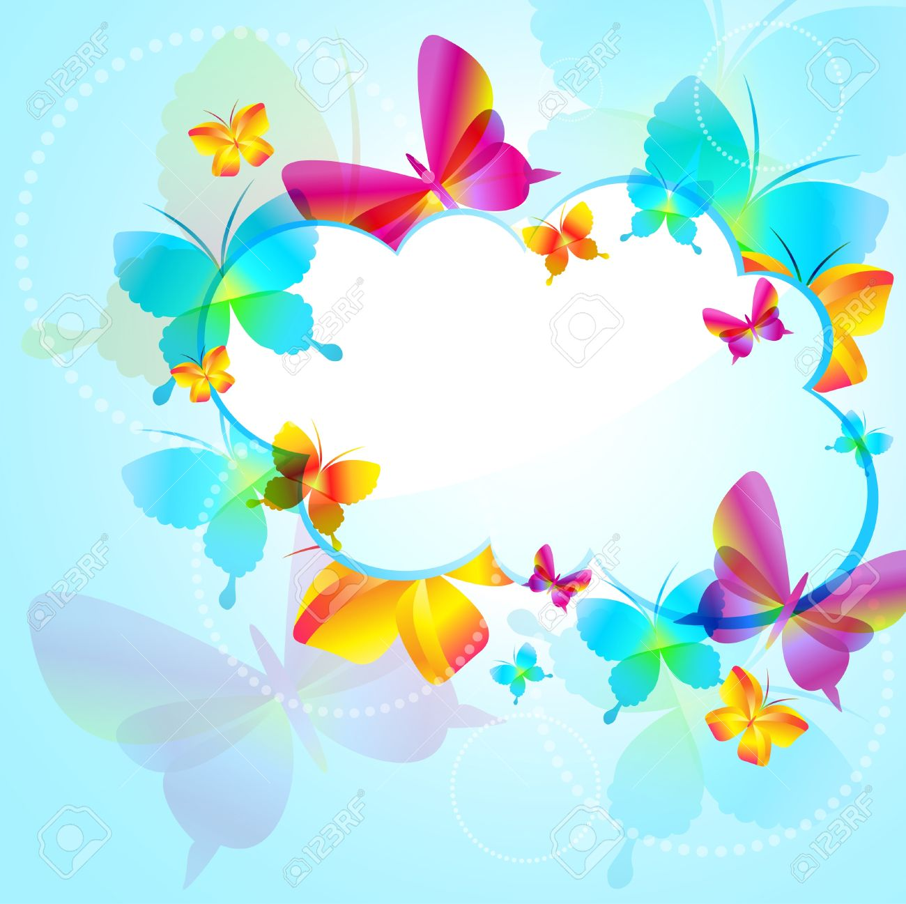 Free Bee And Butterfly Clipart Background Images.