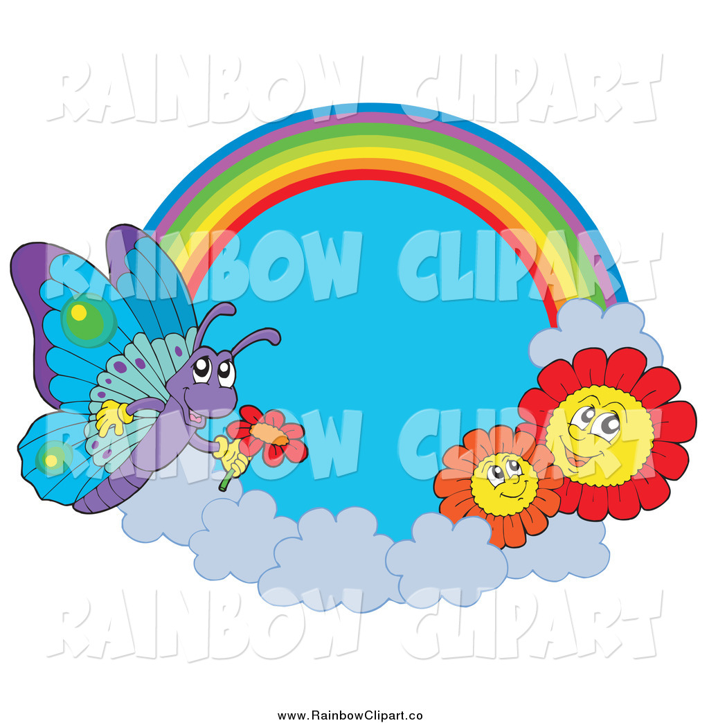 Royalty Free Butterfly Stock Rainbow Designs.