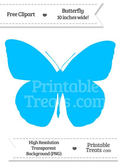 Deep Sky Blue Butterfly Clipart — Printable Treats.com.