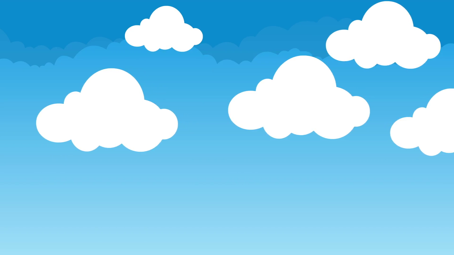 Cute and Puffy Cartoon Clouds Hovering in a Beautiful Blue Sky Motion  Background.