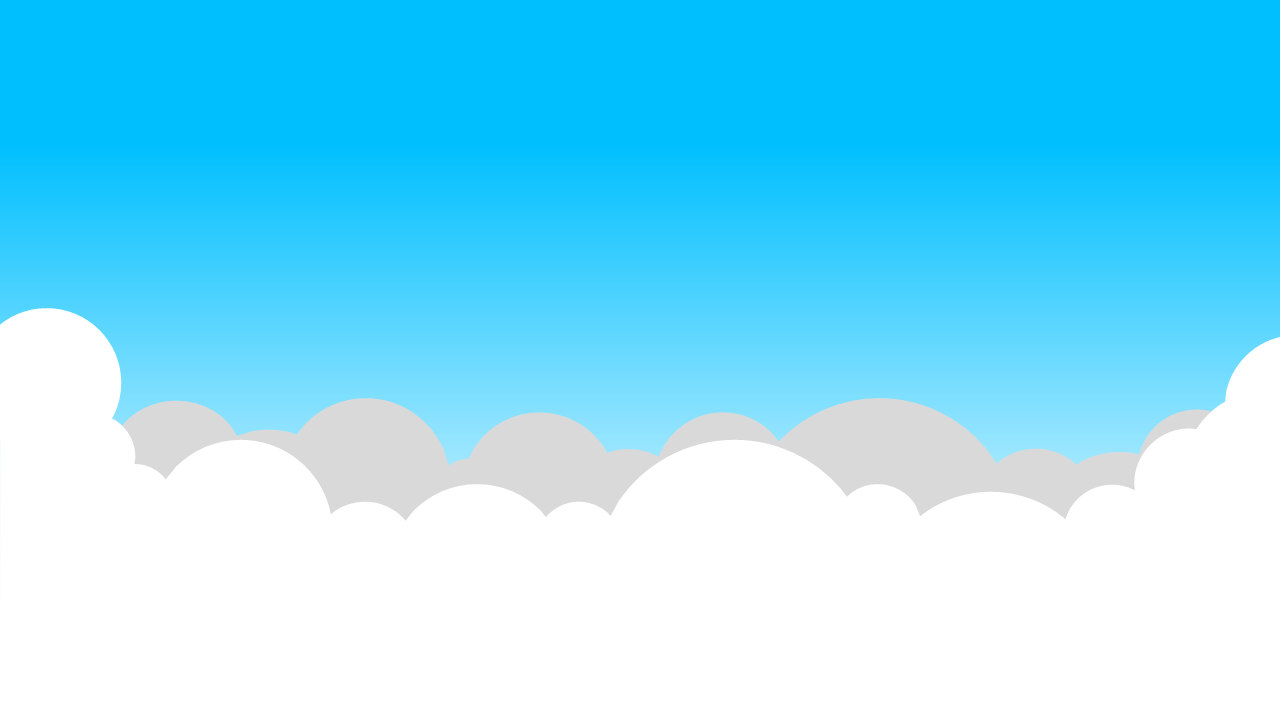 4 Cartoon blue sky and white clouds PPT backgrounds_Best.