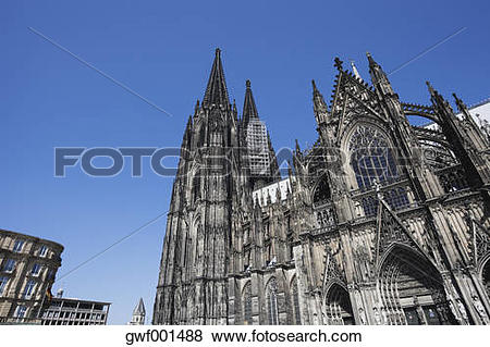 Pictures of Germany, Cologne, View of Cologne Cathedral against.