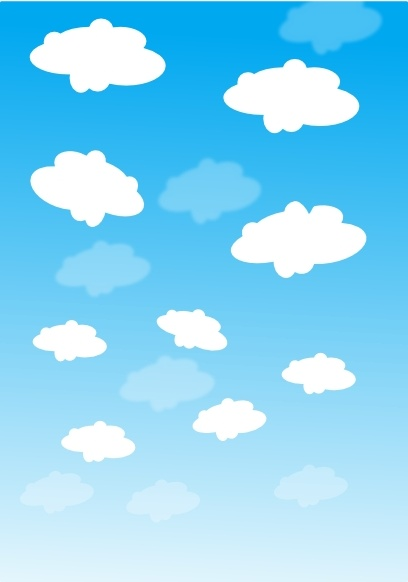 Sky With Clouds clip art Free vector in Open office drawing.