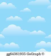 Blue Sky Clouds Clip Art.