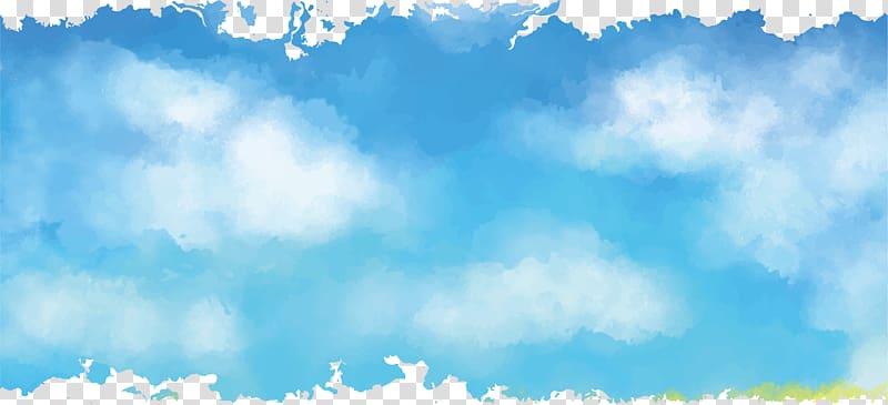 Sky Euclidean Cartoon, sky, blue sky illustration.