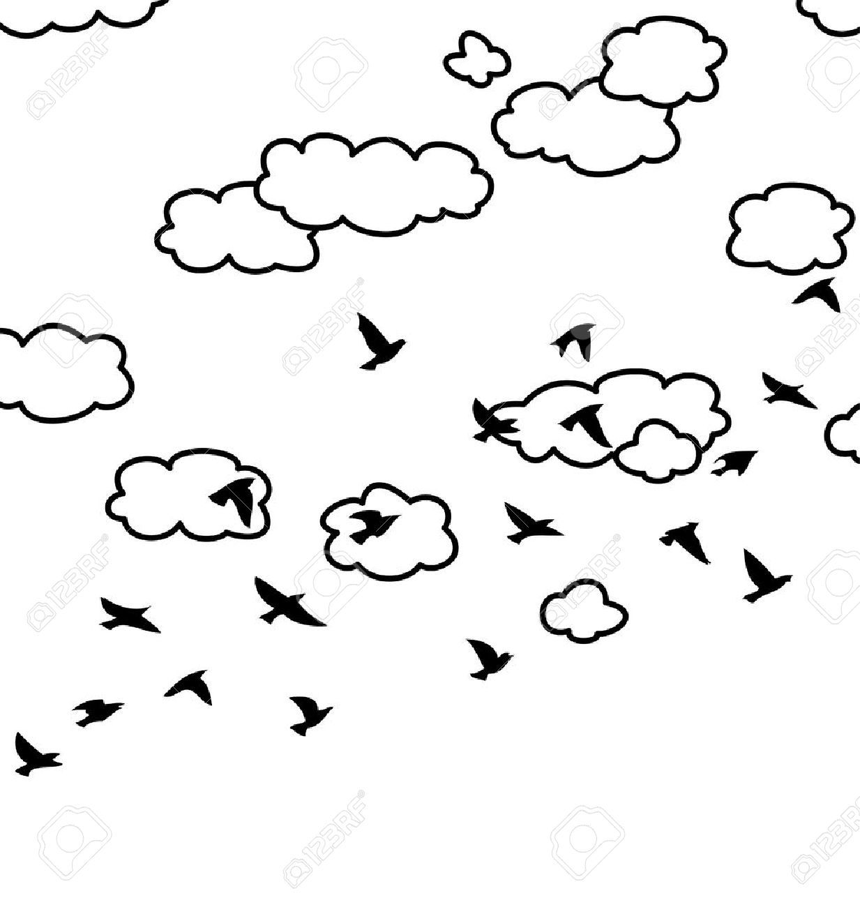 Sky clipart black and white 2 » Clipart Portal.