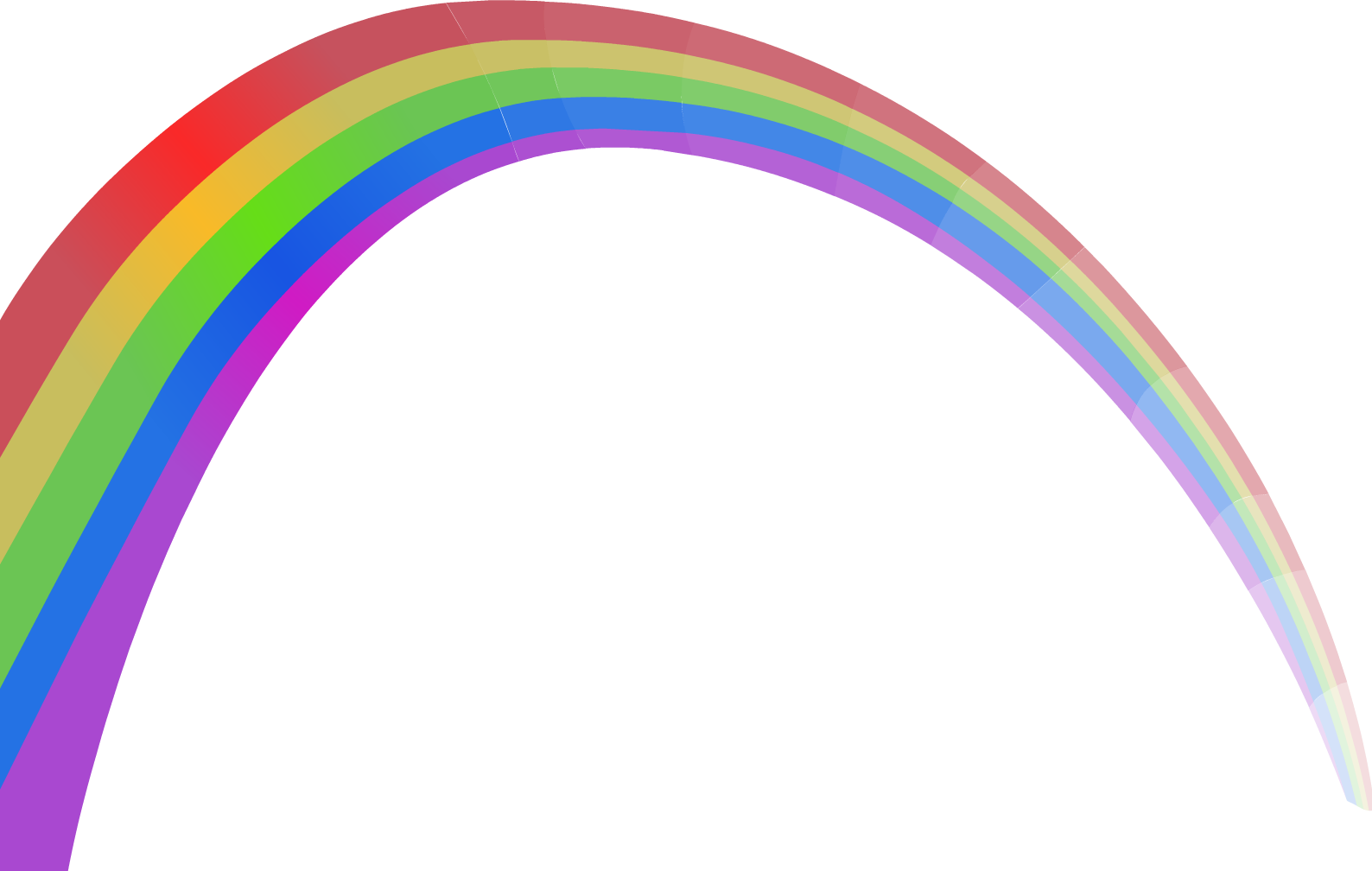 Rainbow Euclidean vector Sky.