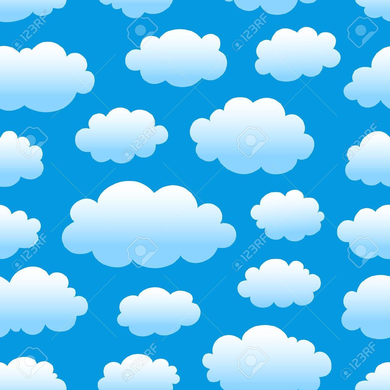 Cloudy blue sky clipart