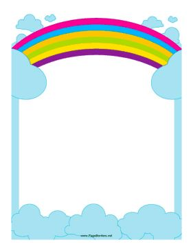 This border includes a rainbow reaching across the sky. Free to.