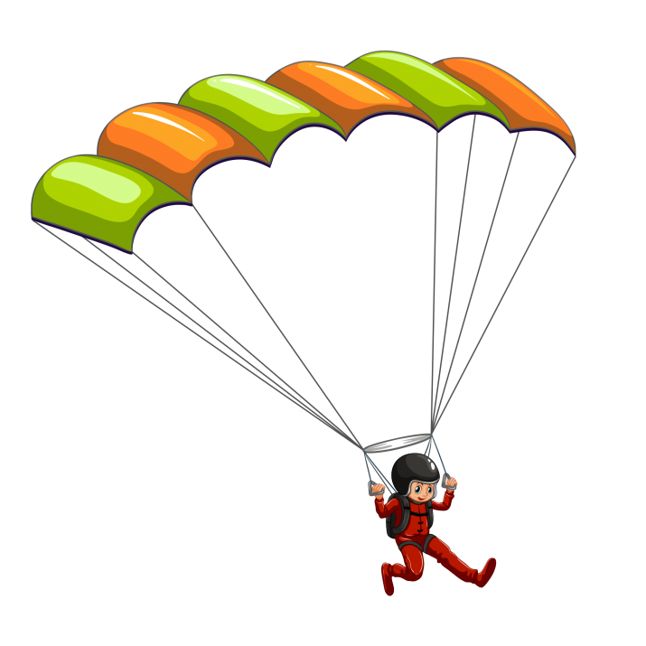 Skydive ClipArt PNG.