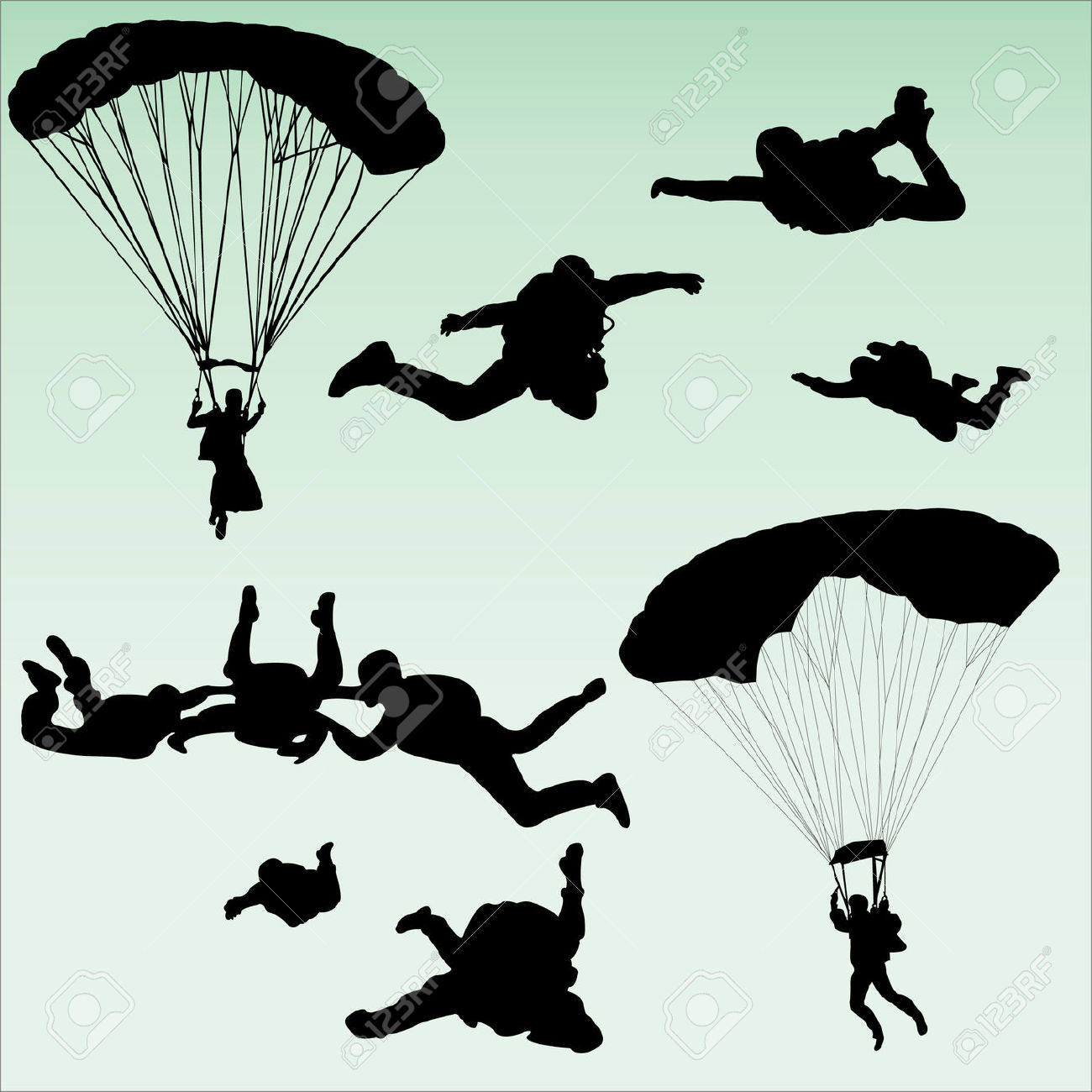 Sky Diving Clip Art (101+ images in Collection) Page 3.