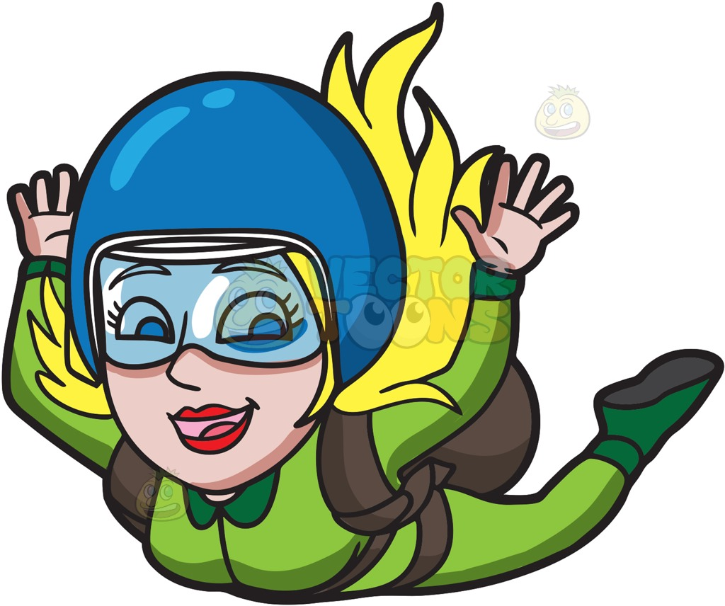 Parachute jump clipart.