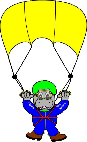 Sky Diver Hippo Clip Art at Clker.com.