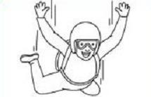 Free Skydiving or Parachuting Clipart.