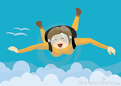 Skydiving clipart.