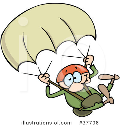 Skydiving Clipart #37798.