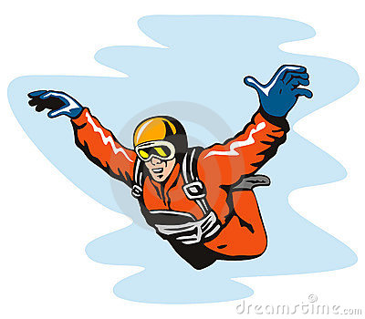 Clipart skydiving.