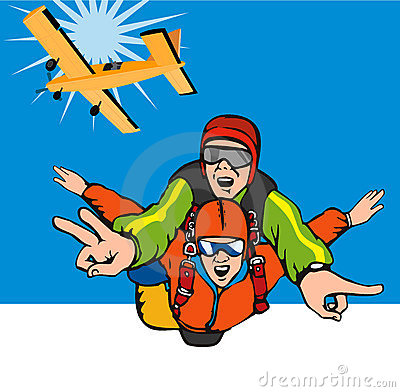 Skydiving Stock Illustrations.