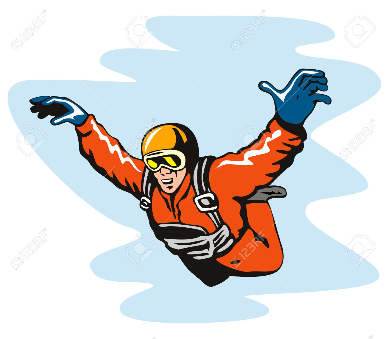 Skydiver Royalty Free Cliparts, Vectors, And Stock Illustration.