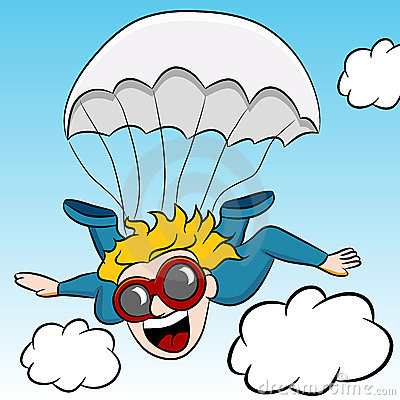 Free clipart skydiving.