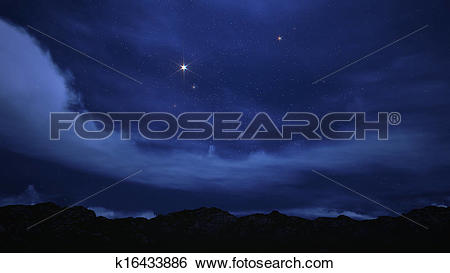 Stock Images of Night sky filled with stars. k16433886.