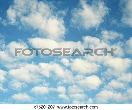 Picture of Blue sky filled with white clouds x75201207.