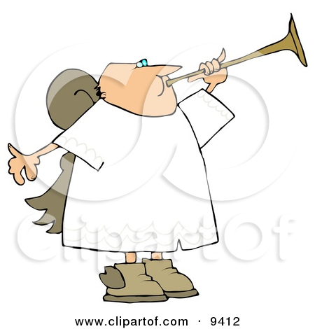 Male Angel with Wings Pointing Up Towards the Sky Clipart by.